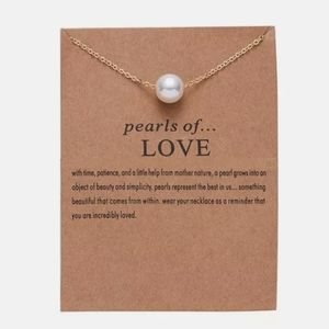"""New """"Pearls of Love"""" Pendant Chain Necklace"""